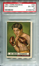Ray Famechon 1951 Topps Ringside #79 Boxing Card PSA 6 Featherweight Fighter