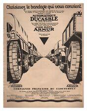 PUBLICITE PNEU ARMUR AUTOMATIQUE DUCASBLE 1927