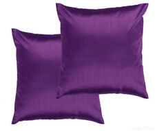2 Piece Euro Shams Solid Purple Cover Case Decorative Pillow 26 x 26
