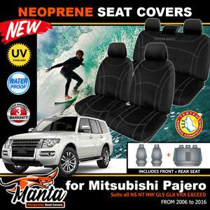 Manta Neoprene Seat Covers Mitsubishi Pajero NS NT NW GLS VRX GLX 2ROW's 2006-19