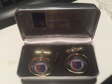 BMW `ALPINA`  HIGH QUALITY GOLD PLATED CUFFLINKS IN DISPLAY CASE