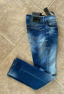 Buffalo Jeans Evan-X Slim Straight Stretch 32 x 34 Sanded & Destroyed Denim NWT