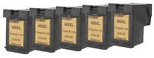 Printenvro 5x HP 60XL Black CC641W Reman Ink Cartridges for  D2560 D2660 D5560