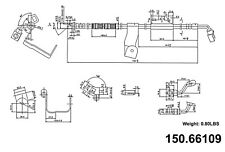 Brake Hydraulic Hose Front Right Centric 150.66109