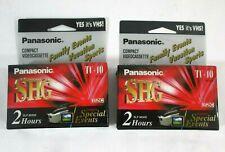 2X Panasonic SHG TC-40 VHSC Camcorder Tapes Recordable