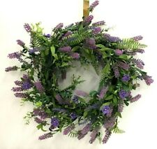 "Lavender Fern Vine Wreath~Mix Foliage~PVC/Foam/Artificial~20"""