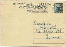 P8127   Milano, IP con affranc. a targhetta San Remo, 1951