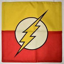 The Flash Linen Cushion Cover Logo Movie Super Hero Pillow Flim Comic TV Kids