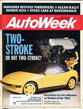 AutoWeek Magazine March 12 1990 GM Micro Show Car Two-Stroke Engine EX 021716jhe