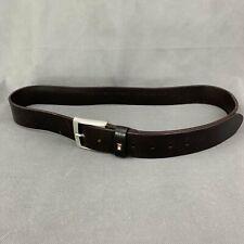 """TOMMY HILFIGER Mens Dark Brown Leather BELT - Size 42"""" / 105cm"""