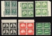 #692-#699 11c-25c 1931 Assorted Blocks & Plate # Blocks Mint & MNH 6 items