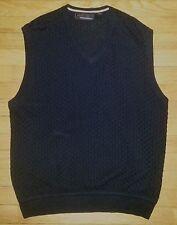 M Solid Black GREG NORMAN Sleeveless Golf Sweater Vest! c389