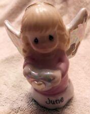 """Vintage 2000 Pmi June Angel Porcelain Figurine 3.25"""" Tall - Shimmer Finish (#25)"""