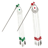2x Japanese Ladies Hair Clip Stick Tassel Dangle for Kimono Dress Headwear