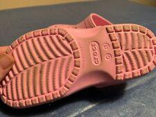 Crocs little girls pink size 13