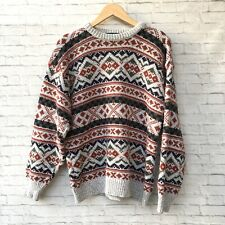 Claybrooke Outdoors Sweater Pullover Large 100% Cotton Vintage Made In USA Men