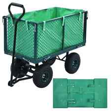 vidaXL Garden Cart Liner Green Fabric Hand Trolley Cover Tool Accessories