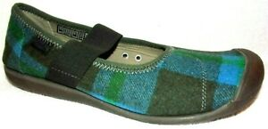 New Keen Sienna Blue Climbing Ivy Plaid Wool-Blend Mary Jane Shoes 9 M