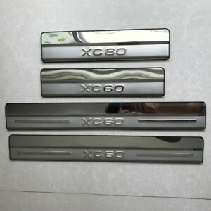 Stainless Steel Door Sill Scuff Plate Guards Cover Fit For Volvo XC60 2009-2016