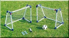 KIDS MINI FOOTBALL GOAL POSTS TWIN SET A FRAMES CHILDRENS SOCCER 2 GOALS SET