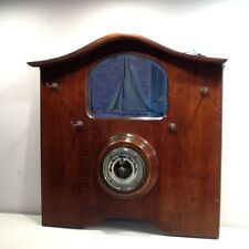 Art Deco Mahogony Wall Mirrror and Aneroid Barometer c1930's
