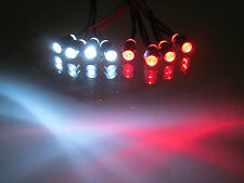 RC LED LIGHT KIT,4 WHITE 4 RED 5mm REVO TRAXXAS TMAXX HPI SC10 Ultima, LEDRC-05