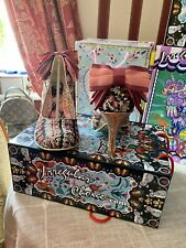 Irregular Choice Fan Tail Pink Sequin With Gold Heel Size 39 New In Box 🎀