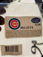 MLB Licensed Chicago Cubs Believe Blue Bracelet Limited New in Package Kids Size