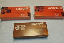 Lot of Vis-Ed American History I II Bilingual Spanish-English Study Card Sets