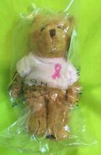 Avon Breast Cancer Bear Plush beanie - New In Package - 2001 - Stuffed Animal