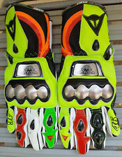 Valentino Rossi VR46 Motorbike Leather Riding Gloves All Sizes Available