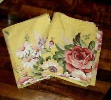 RALPH LAUREN Sophie Brooke Yellow Floral Pillowcases, Standard Size, Set Of 2
