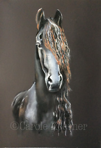 Horse pastel painting