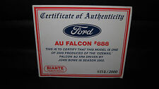 BIANTE 1/18 COA CERTIFICATE OF AUTHENTICITY 2002 JOHN BOWE FORD AU XR8 OZEMAIL