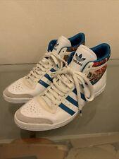 Adidas Sleek Series Hi Tops - G14823 White / Turquoise Size UK 6
