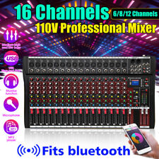 110V 12/16 Channels Audio Mixer with USB bluetooth 6 Music Modes Mixin z