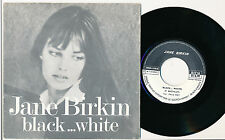 "JANE BIRKIN 45 TOURS 7"" HORS COMMERCE BLACK... WHITE (DE PIERRE BACHELET)"