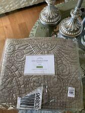 Pottery Barn Velvet Medallion Pillow Sham Brown King 36x20�