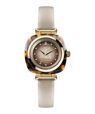 Genuine Vivienne Westwood Beckton Havana Leather & Steel Watch RRP£225