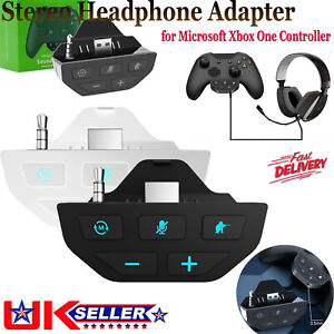 Stereo Headset Adapter Mic Headphone Converter for Microsoft Xbox One Controller