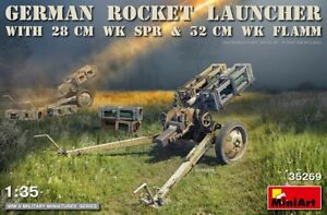 German Rocket Launcher With 28Cm Wk Spr & 32Cm Wk Flamm MINIART 1:35 MIN35269