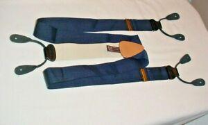 Trafalgar Suspenders / Braces Blue Woven Silk
