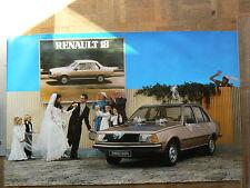 Affiche  Ancienne  RENAULT 18 GTS  R 18  Mariage   éditions Publicis   Auto