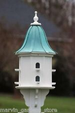 FANCY HOME PRODUCTS BIRDHOUSE PATINA COPPER BELL ROOF