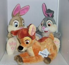 Disney Store Bambi Thumper Miss Bunny Deer Plush Toy Exclusive Original Easter