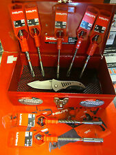 HILTI BOX W/ (7) TE-C/X SDS PLUS STYLE DRILL BITS, BRAND NEW, FAST SHIPPING,