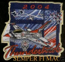 THUNDERBIRDS TEAM PATCH 2004 US AIR FORCE NELLIS AFB AIRSHOW PIN UP WING GIFT
