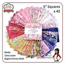 Moda Regent Street Charm Pack Squares Fabric English tana lawn liberty print UK