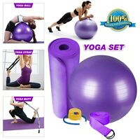 Yoga Mat 3mm Gym Mat Abs Ball Fitness Pregnancy Ball Non Slip Mat Gym Pilates