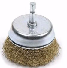 3'' WIRE CUP BRUSH / FINE / BY KOBALT / 1/4 in. shank suitable for drill